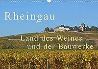 Rheingau - Land des Weines und der Bauwerks (Wandkalender 2022 DIN A3 quer): Herrliche Landschaften mit Weinfelder, Schloesser unf Kloester (Monatskalender, 14 Seiten )