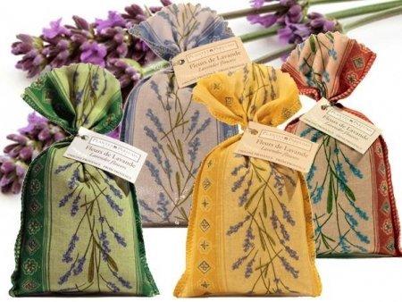 Divine Yoga Shop Sac en coton fait main rempli de fleurs de lavande séchées 1 sac | Petite idée cadeau | Parfum d'intérieur | troubles du sommeil | Répulsif contre les insectes et les mites