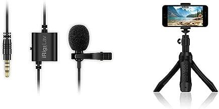 IK Multimedia Video & Live-Streaming Kit - iKlip Grip Pro smartphone stand, iRig Mic Lav on-camera mic