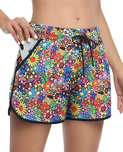 KORALHY Sleeping Shorts for Women,Business Casual Wear Double-Layered Light Weight Absorb Sweat Drawstring Sleeping Comfortable Work Short Medium