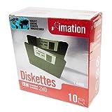 イメーション 3.5インチフロッピーディスク DOS/Vフォーマット 10枚入 紙箱×1 US仕様品 MF2HD10P(IBM)-O