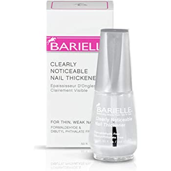 Barielle Clearly Noticeable Nail Thickener, Top Coat Instantly Thickens Nails Up To 50%, Perfect for Damaged Nails, Quick-Drying, Heals Cracked, Split, or Peeling Nails, Promotes Nail Growth, .5 Ounce