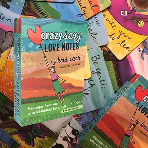 Tarjetas Tarot de 52PCS, Crazy Sexy Love Notes and Guide Divination Fortune Decling Tarjeta de Juego Set para Juego de Mesa para Principiantes