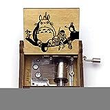 Caja De Música De Totoro Manual Barata Artesanías Clásicas De Madera Regalo Decoración del Hogar Artesanía