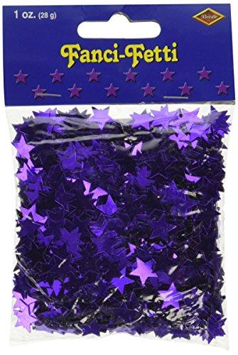 amscan International Stardust métallique Confetti, Violet