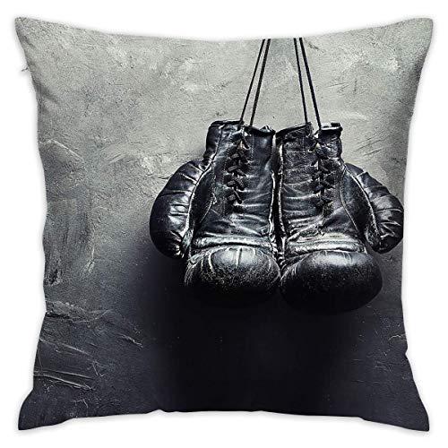 Elsaone Boxhandschuhe Dekorativer Kissenbezug für Sofa-Bettwäsche Couch 18 x 18 Zoll 45 x 45 cm