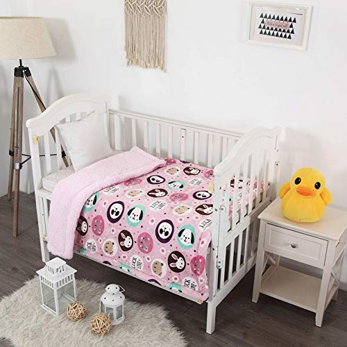 Luxury Home Collection Baby Blanket Toddler Sumptuously Soft Plush with Sherpa Backing Children's Stroller Cover Warm 40