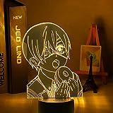 Luz De Noche LED Con luz De Ilusión 3D Anime Mayordomo negro Muebles de dormitorio Decoración Regalo de cumpleaños Gadgets de cómic Mayordomo negro Lámpara de mesita de noche para niño y niña