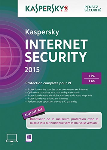 Kaspersky Internet Security 2015 - Monoposte - 1 an [Download]