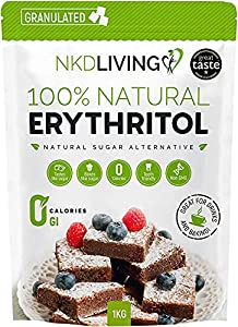 Eritritol 100 % natural 1 kg | Granulado sustituto del azúcar con cero calorías