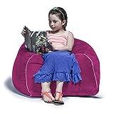 Jaxx Bean Bags Club Jr. Bean Bag Chair for Kids, 2.5-Feet, Fuchsia Microsuede
