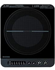アイリスオーヤマ IHコンロ 1400W 卓上 デザイン クッキングヒーター 卓上 鍋セット IH セット 焼き肉プレート 平面プレート ブラック/ピンク/ブラウン