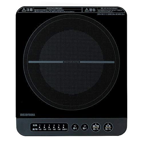 アイリスオーヤマ IHコンロ 1400W 卓上 デザイン IHK-T37-B ブラック