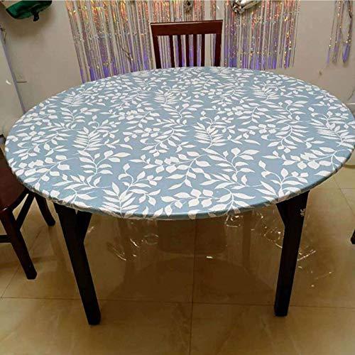 HUANXA Wasserdicht Runden Tischdecke Für Terrasse Innen- Draussen Esstisch, Vinyl Tischtuch Mit Elastische Kante Knitterfrei Wischbar PVC Tischwäsche-N-Durchmesser 90-110cm(35-43in)