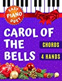 Carol of the Bells I Ukrainian Christmas Carol I 4 Hands Easy Piano Duet Sheet Music for Beginners Kids Adults: How to Play Piano Keyboard I Popular Christmas Song I Video Tutorial