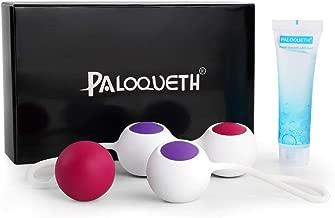 Kegel Balls Exercise Weight for Women Bladder Control & Pelvic Floor Exercises Tightening, PALOQUETH Silicone Ben Wa Balls Pelvic Weights Training Set for Beginners & Advanced Tightening