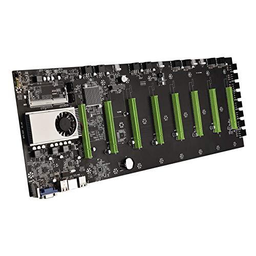 Baalaa BTC-D37 Miner Motherboard CPU Set 8 tarjeta de vídeo ranura DDR3 memoria interfaz VGA integrada bajo consumo de energía