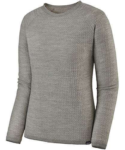 Patagonia W's Cap Air Crew T-Shirt pour Femme S Gris/Blanc (Feather Grey - Birch White X-Dye)