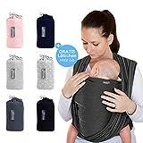 Makimaja - Écharpe de portage gris foncé - porte-bébé de haute qualité pour nouveau-nés et bébés jusqu'à 15 kg...