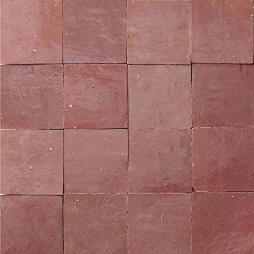 Casa Moro marokkanische Zellige Fliesen Rosa 10x10 cm 1 qm   Kunsthandwerk aus Marokko   Schöne Wanddekoration im Bad Küche Flur & Küchenrückwand   Z171