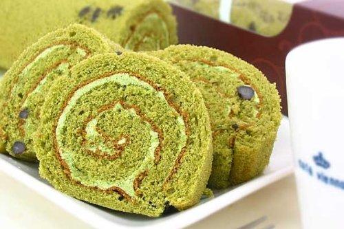 小豆入り 抹茶 ロールケーキ 1本 (ご自宅用(箱なし))