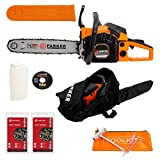 45cc 16' Petrol Chainsaw + 2 x Chains + More!