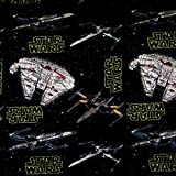 Star Wars Millenium Falcon Stoff 100% Baumwolle pro 1/2
