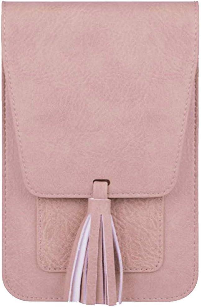Crossbody Bag Women Girl Outdoor Shoulder Bag Hand Bag Phone Bag - HHmei Ms. Messenger Bag Phone Case  Woman White Blue Tote Travel Set Small Backpack Gold Handbags Fashion Big Party Pink (Pink)