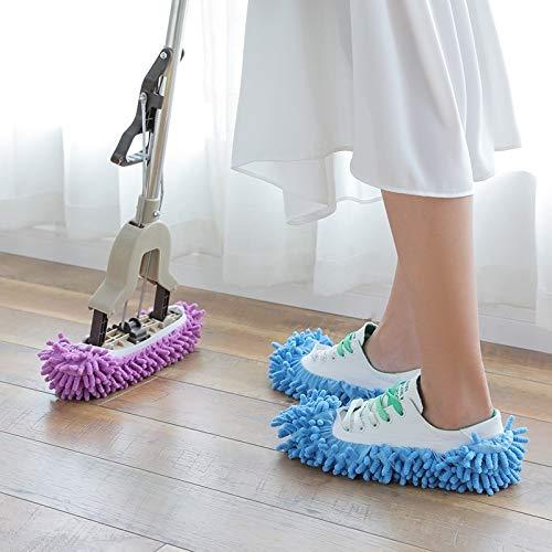 Productos de Limpieza 12 PCS Chenille Lazy Mopping Cubierta de Zapata de Piso Limpio Piso extraíble y Lavable MOP Majestado Caddy de Limpieza