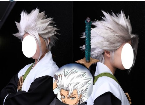 (Toshiro and chests are) cosplay wig \