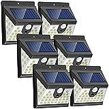Solarlampen für Außen, 【6 Stück】LANSOW 40 LED Solar Bewegungsmelder Aussen, 270° Solarleuchte für Außen, 2000mAh Solar Aussenleuchte, Solar Wasserdichte Wandleuchte 3 Modi Solarleuchten für Garten