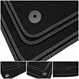 tuning-art BDN325 Alfombrillas de Doble Costura para Hyundai Nexo FE 2018-, Costura:2X Plata
