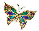 GT Graphics Beautiful Colorful Butterfly Tiled Design - 5' Vinyl Sticker - for Car Laptop I-Pad - Waterproof Decal