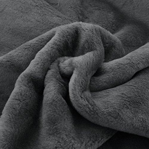 Neumann Handelsvertrieb Fellimitat | 150 cm Breit | Meterware | Plüsch | Webpelz | Kunstfell (Dunkelgrau) S2