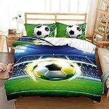 Bettwäsche-Set 260x220cm 80x80cm Kreativität Stadion Sport FußballBettwäsche für Teenager &...
