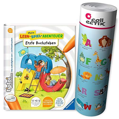 Ravensburger tiptoi ® Buch | Erste Buchstaben - Mein Lern-Spiel-Abenteuer + ABC Alphabet Lern-Poster mit Tieren