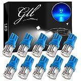 Grandview 10pcs Bleu T10 194 168 W5W 501 LED Ampoules avec 5-5630-SMD pour Voiture Dôme de Carte Intérieur Porte Tronc Tableau de Courtoisie Lumières de Plaque D'immatriculation (DC 12V)