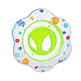 JCREN Swimming Baby Pool Float Ring, Baby Boat Inflatable Pools Floats Ring with Safely Seat Double Airbag Swim Bath Water Toys Beach for Swim Training Kids Toddler Babys (Green)