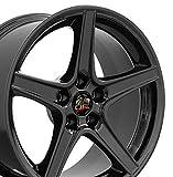 OE Wheels LLC 18 Inch Fits Ford Mustang 94-2004 Saleen Style FR06B 18x9 Rims Gloss Black SET