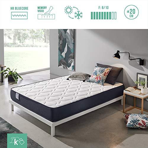 Dreaming Kamahaus Colchón Viscoelástico Roll | Reversible | ViscoAir Pro y Soft Foam | Firmeza Media | ±20 cm altura | 90x190 cm