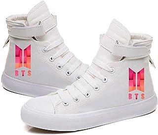HJJ 2020 Zapatos de Lona clásicos/Entrenadores de Pareja/Zapatos Casuales de Estudiantes, KPOP BTS Moda Estilo Hip-Hop Est...