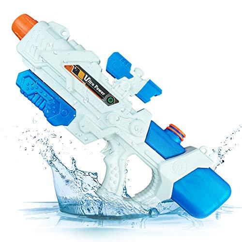 infinitoo Wasserpistole Spritzpistolen, Water Gun Spielzeug für Kinder Water Blaster Badespielzeug Strandspielzeug Erwachsener (Bis zu 15 Meter Reichweite, 49*22cm)