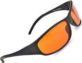 Blue Blocking Amber Glasses for Sleep 99.9 Percent Effective - Nighttime Eye Wear - Special Orange Tinted Glasses Help You...