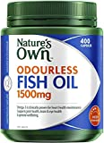 Nature's Own Odourless Fish Oil 1500mg - Source of Omega-3 - Maintains Wellbeing