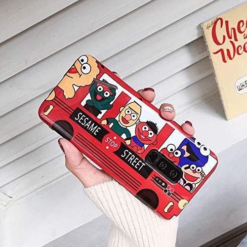 JIAXIA Telefoonhoesje Cartoon Cookie Telefoon Gevallen Voor Samsung Galaxy S10 5G S8 S9 Plus Voor Samsung Note 10 8 9 Leuke Bus Soft Silicone Cover, rood, Voor Samsung S10