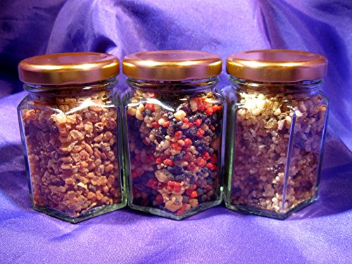 Ascension777 INR052F Resin Jars Set of Three + 10 Charcoal Discs