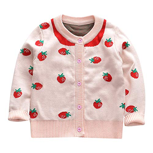 Kleinkind meisjes baby lange mouwen gebreid vest gebreide trui kinderen meisje cartoon aardbeipatroon speciaal warm shirt indoor casual outdoor party Halloween party kostuum