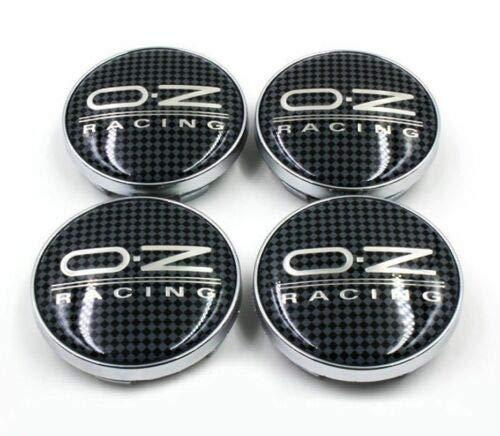 4PCS RACING Carbon 60mm Car Wheel Center Hub Caps Emblem Badge Rim Cap for oz Racing