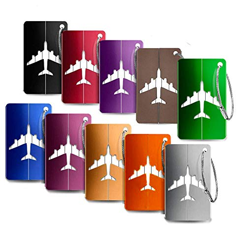 Etiqueta para Equipaje,Travel Bag Etiquetas de Equipaje (10 Pack) ID Etiquetas de...