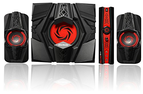 AVerMedia Ballista Unity Gaming Speakers, 2.1 Audio Sound System Speakers, 40 Watts, (GS310)